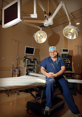 Dr. Aldo in operating room photo