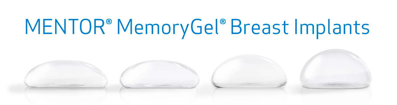 Mentor MemoryGel Breast Implant Lineup