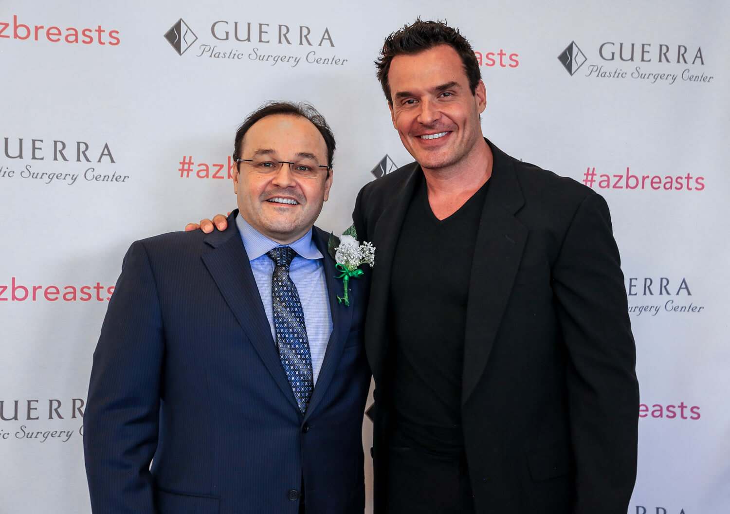 Aldo Guerra and Antonio Sabato at MiraDry Event in Scottsdsale